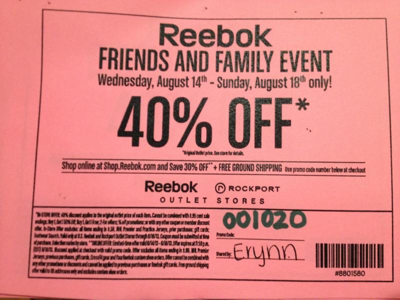 Reebok coupon | Hingham, MA Patch