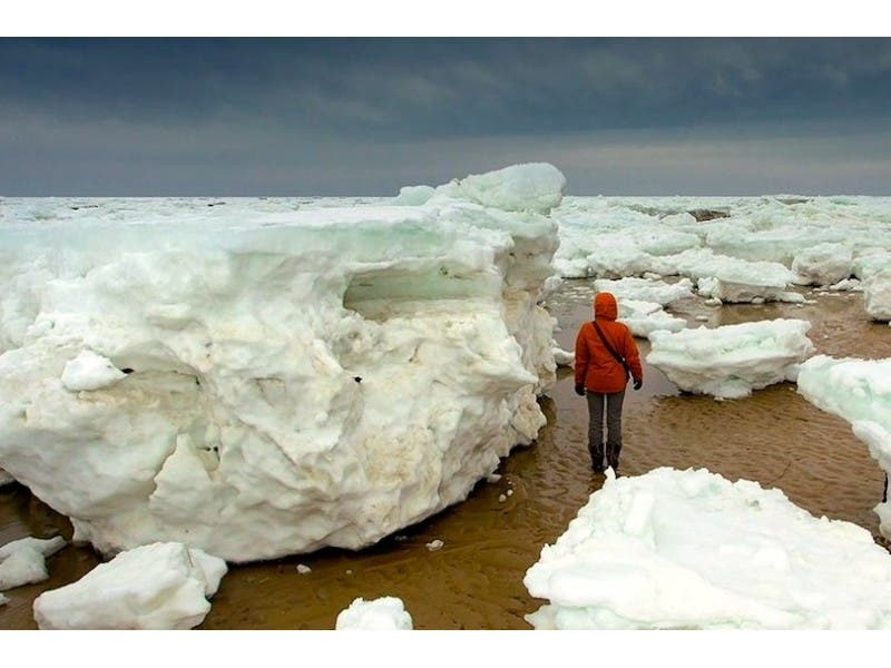 Nearby News: Giant Icebergs on Cape Cod