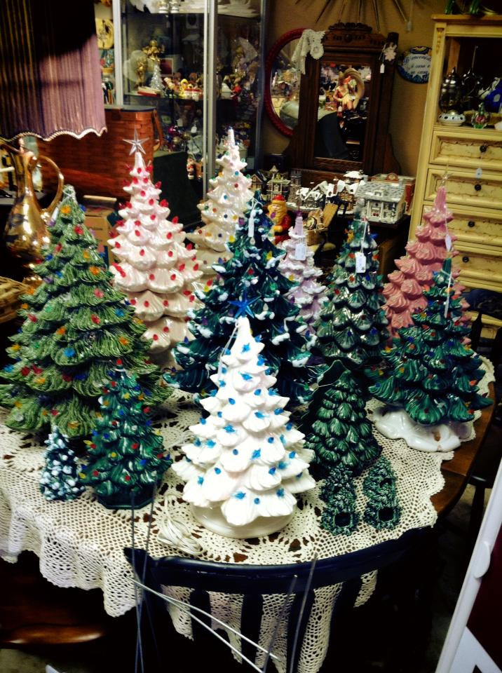 Ceramic Christmas Trees.Vintage Ceramic Christmas Trees Today Lutz Fl Patch