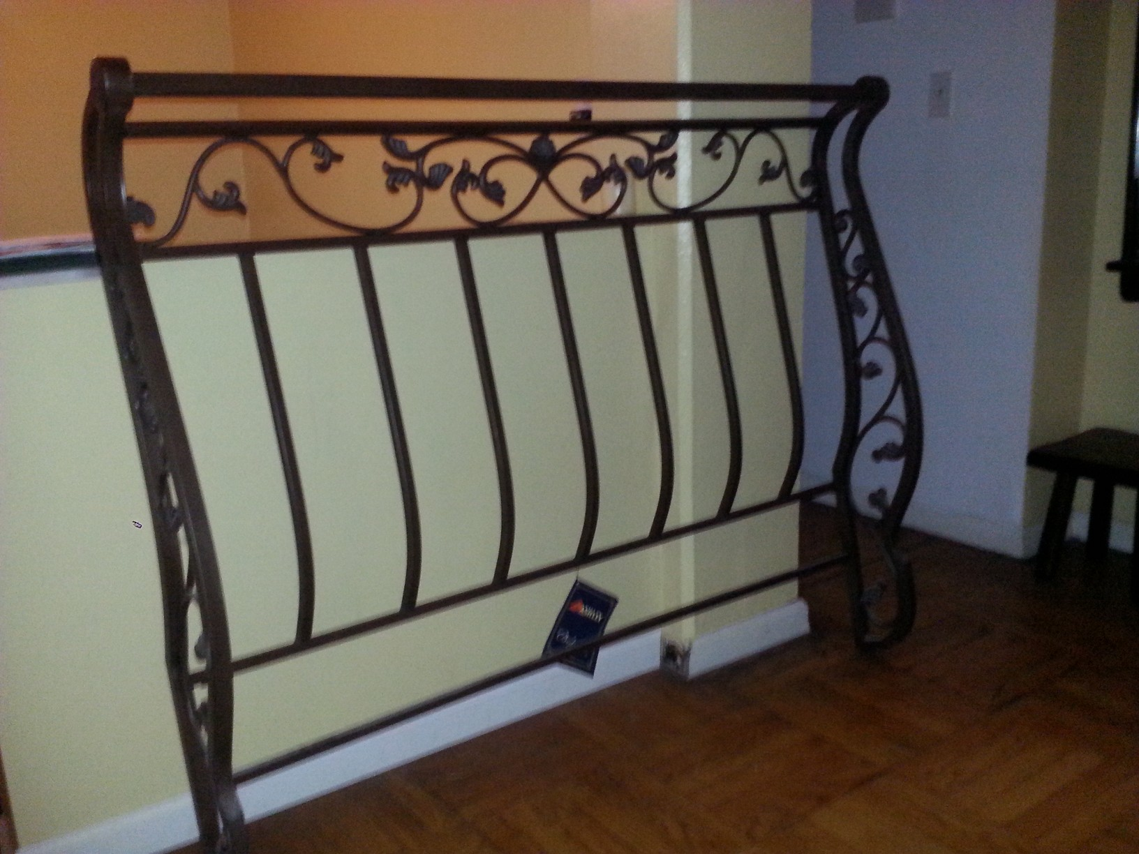 Elegant Wrought Iron Sleigh Bed Head And Foot Board Montclair Nj Patch