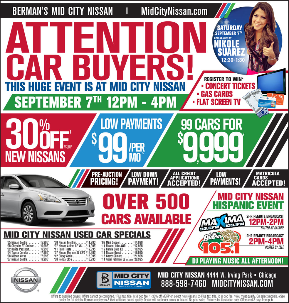 Mid City Nissan >> Party With Mid City Nissan Evanston Il Patch