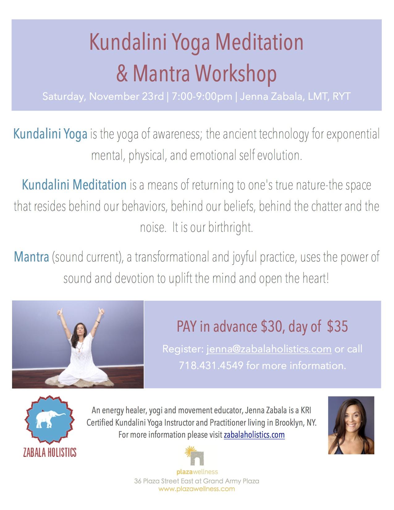 Kundalini Yoga Meditation Mantra Workshop Fort Greene Ny Patch