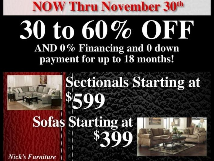 Nick S Furniture Turkey Time Savings Yorkville Il Patch