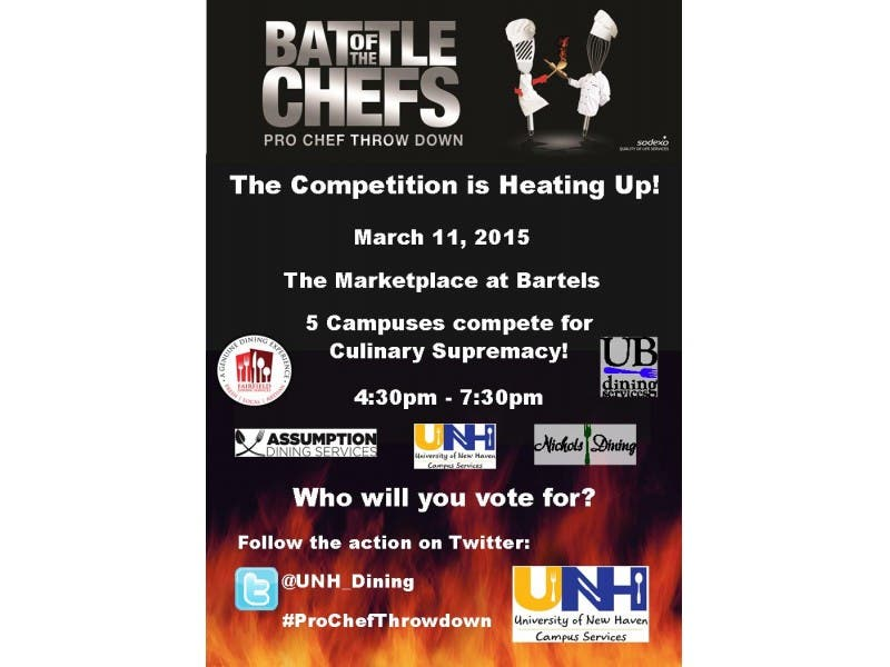 University Of New Haven Hosts Battle Of The Chefs Pro Chef Throw