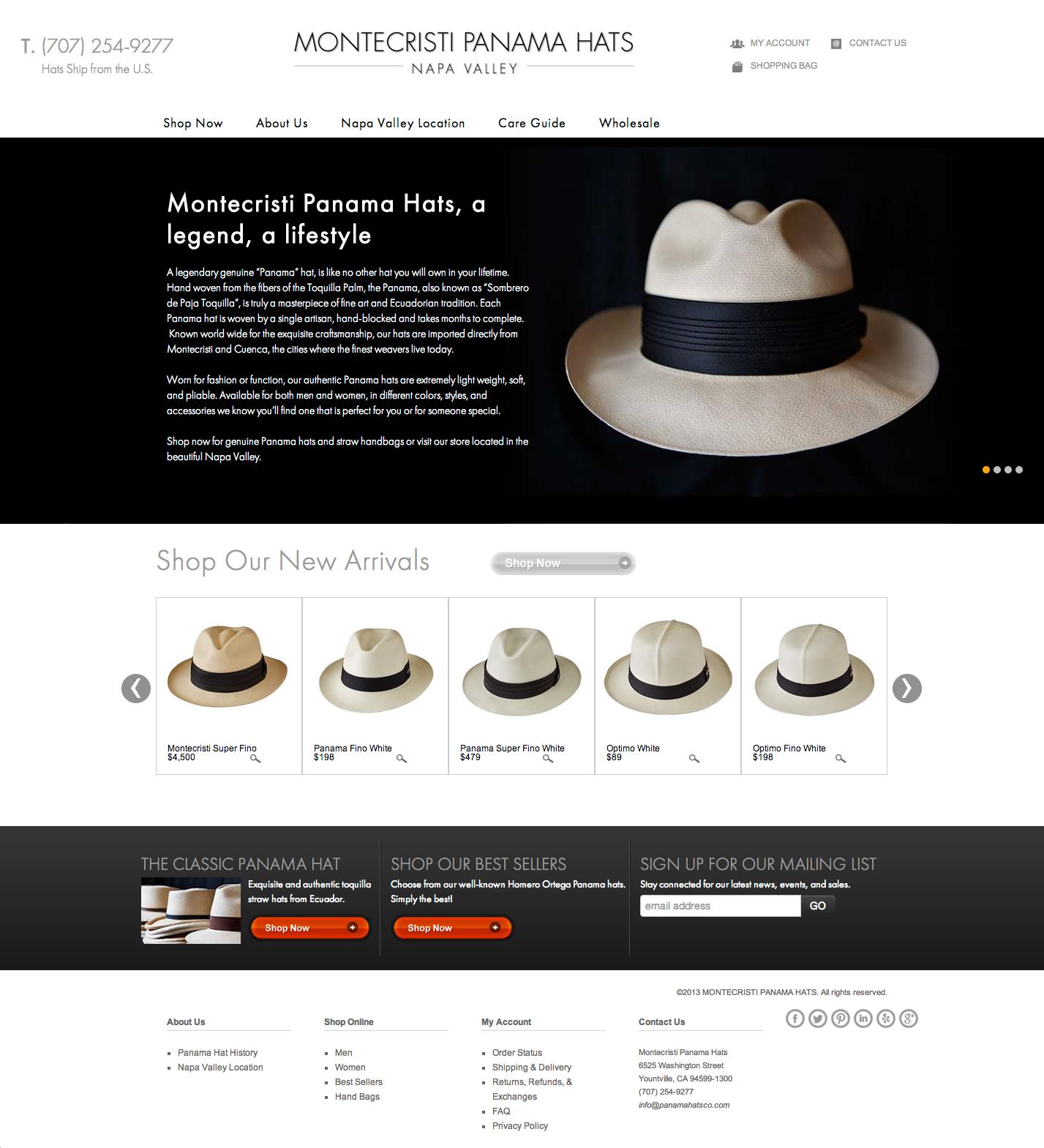 c337f3c4 Montecristi Panama Hats Launches New Website | Napa Valley, CA Patch