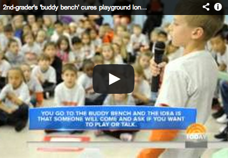 "Second Grader's ""Buddy Bench"" Goes Viral"