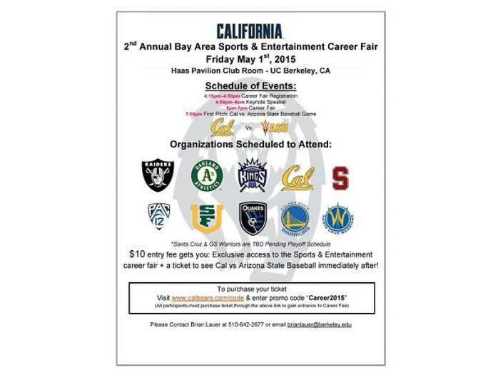 2nd Annual Bay Area Sports and Entertainment Career Fair at Cal