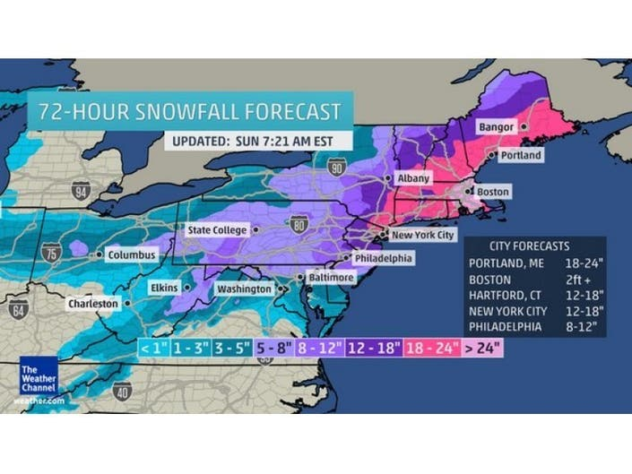Major' Two-Day Snowstorm, Nor'easter To Strike | Norristown