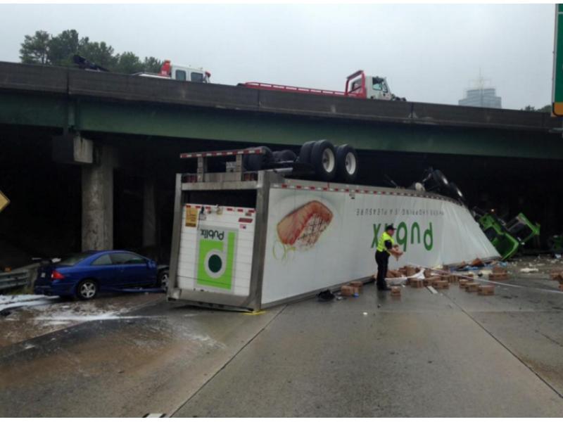 Driver Who Caused GA-400, I-285 Crash Gets Fine, Probation | Sandy
