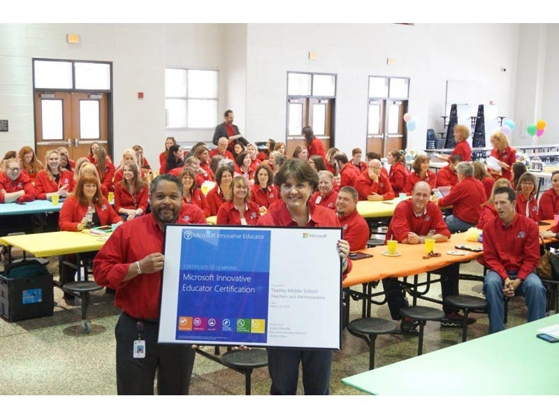 Teasley Teachers Awarded Microsoft Innovative Educator Certification
