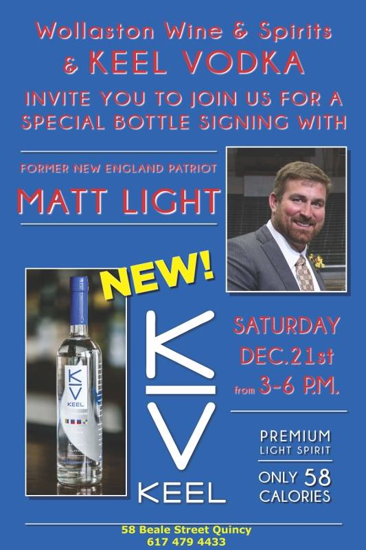 Matt Light Signing Bottles of KEEL in Quincy | Canton, MA Patch