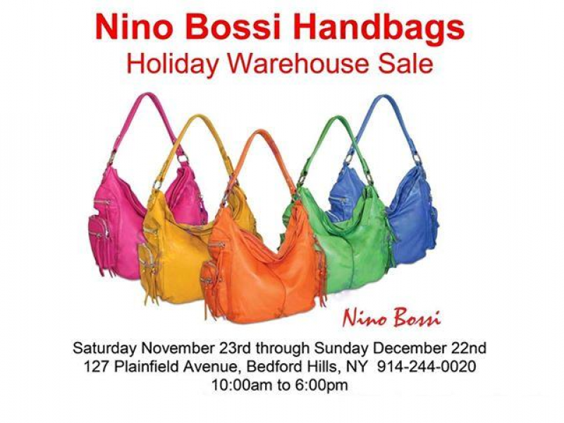 Nino Bossi Handbag Warehouse Open To Public