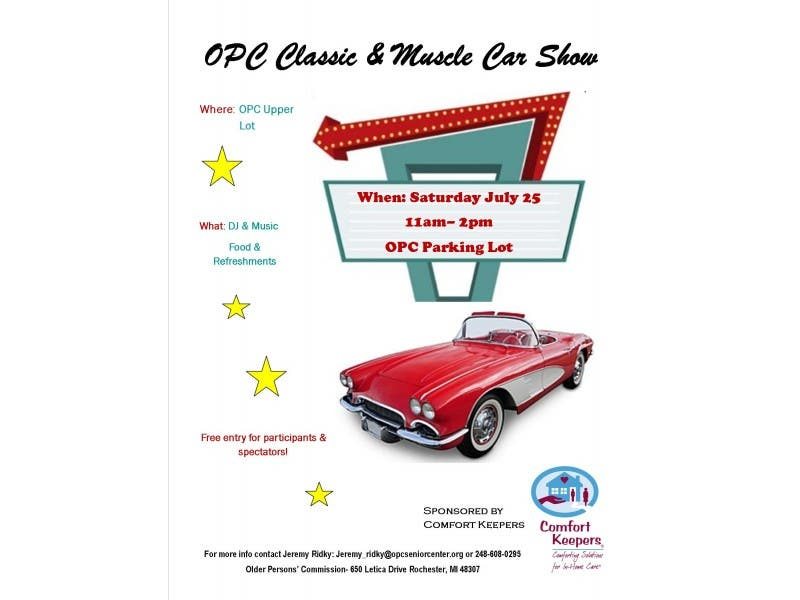 Free Opc Classic Muscle Car Show Rochester Mi Patch