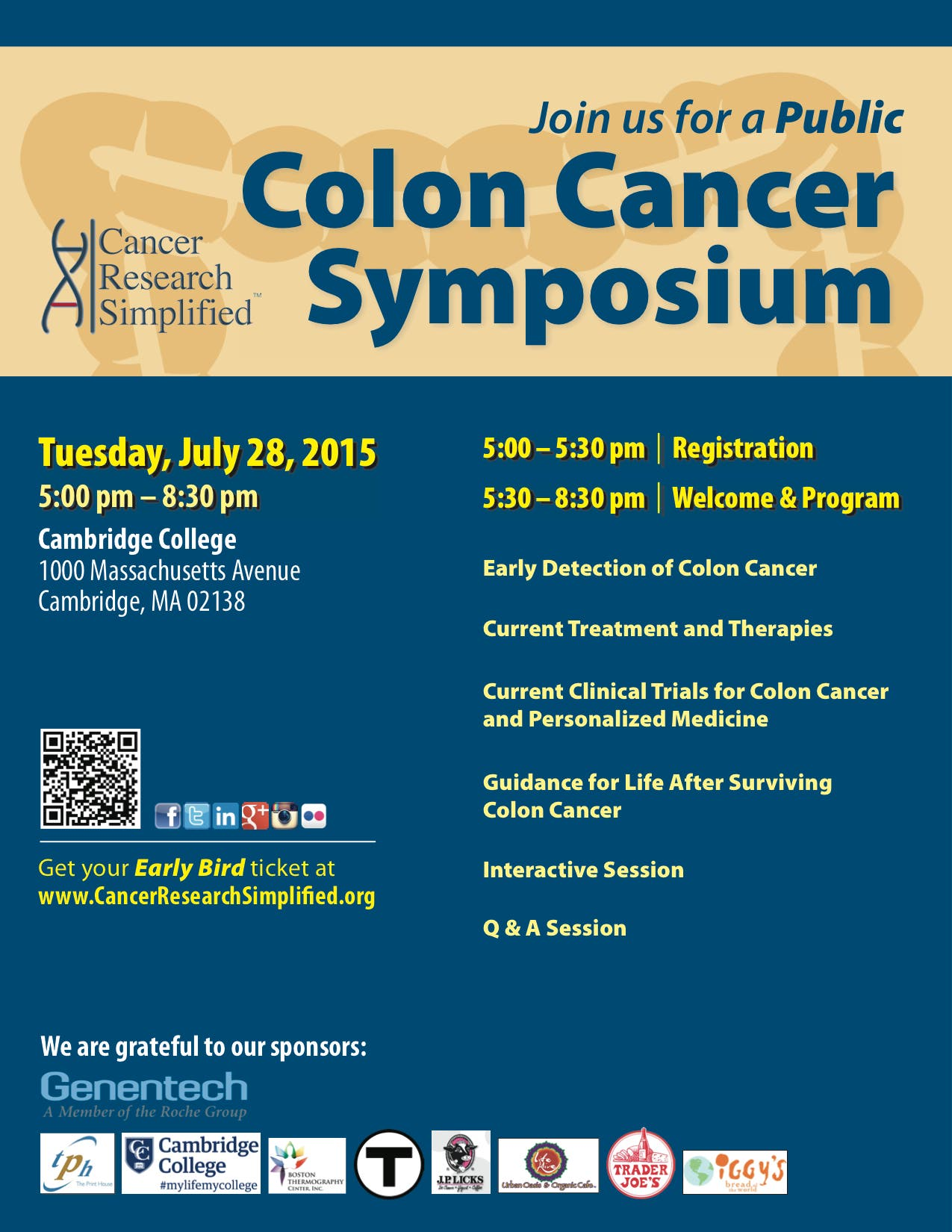 Join Our Public Colon Cancer Symposium Winchester Ma Patch