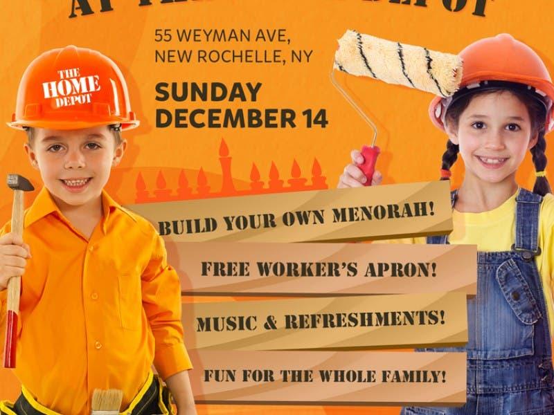 Menorah Workshop At Home Depot
