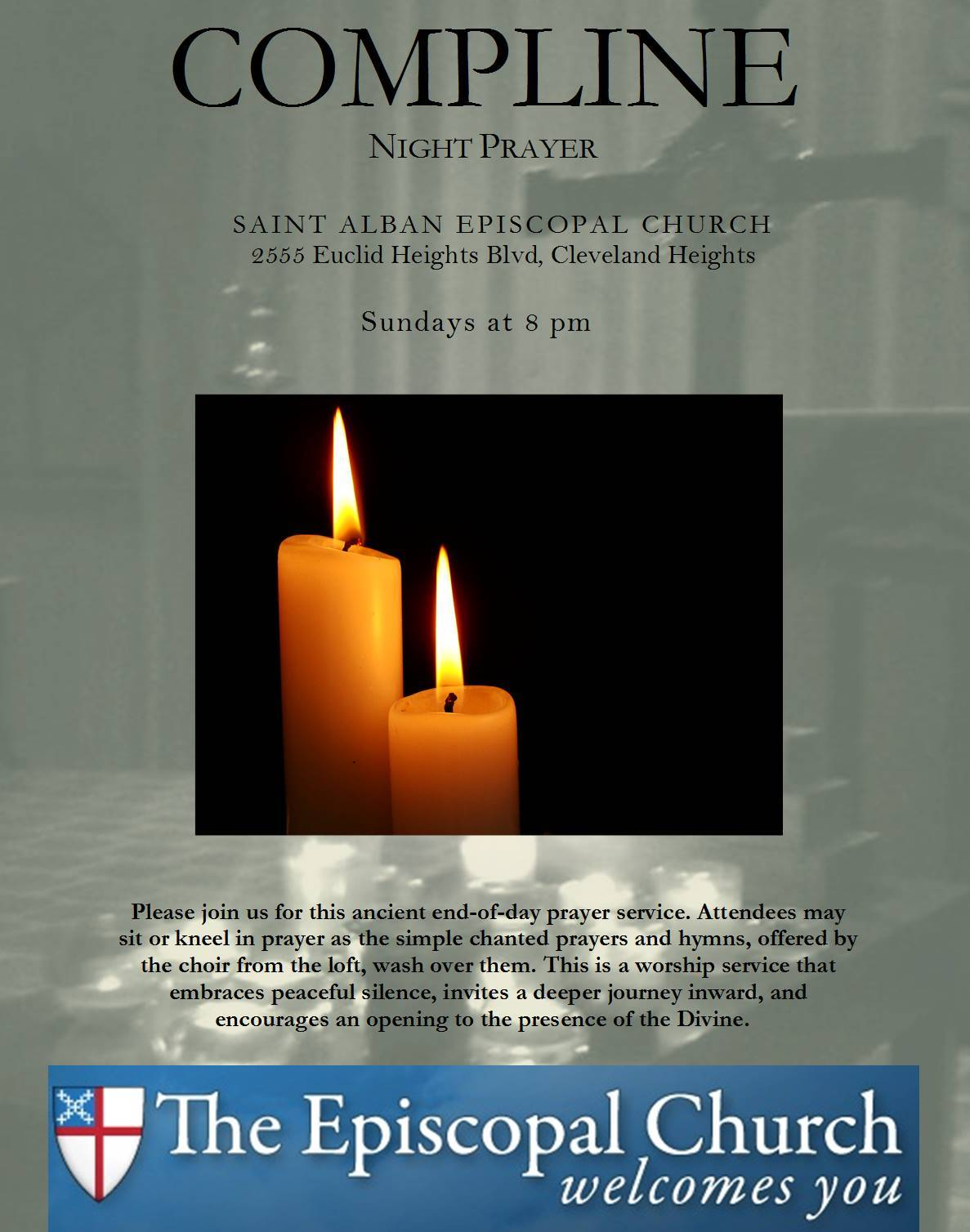 Choral Compline every Sunday evening at St  Alban's