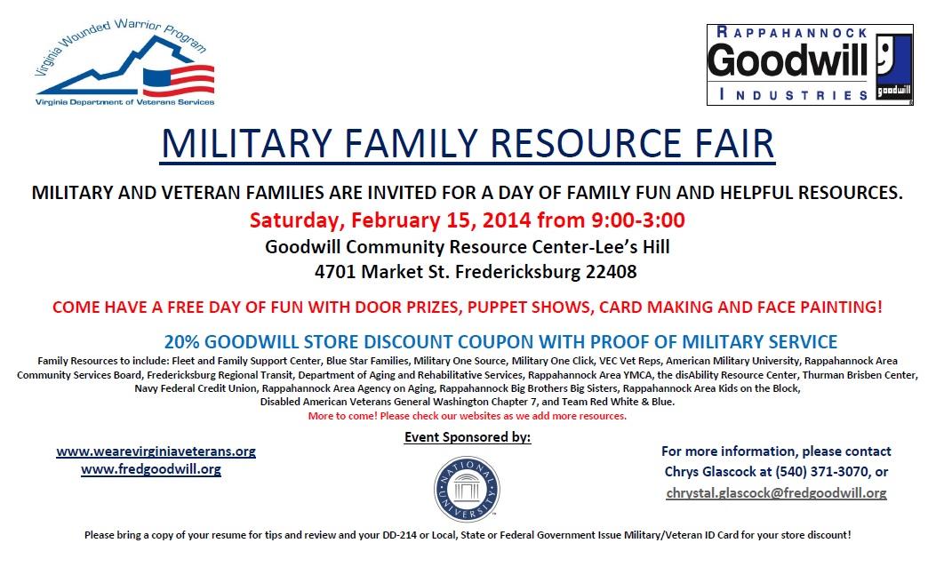 Military And Veteran Family Resource Fair Manassas Va Patch