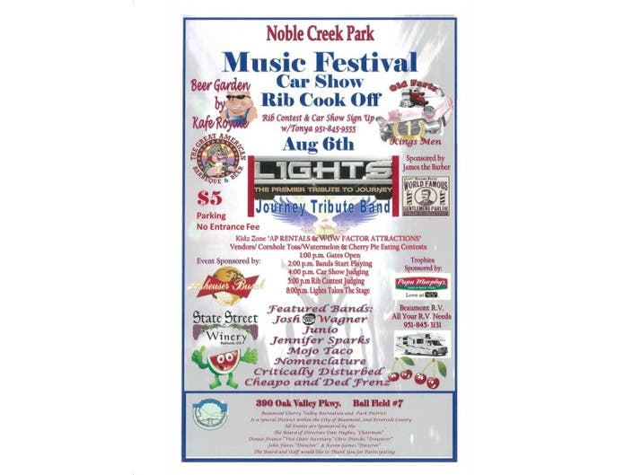 Music Festival - August 6th, 2016   Banning, CA Patch