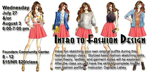 Intro To Fashion Design The Frankfort Park District Frankfort Il Patch