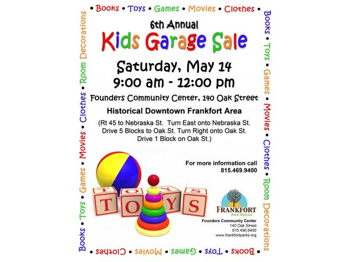 945b078ff 6th Annual Kids Garage Sale | Frankfort, IL Patch