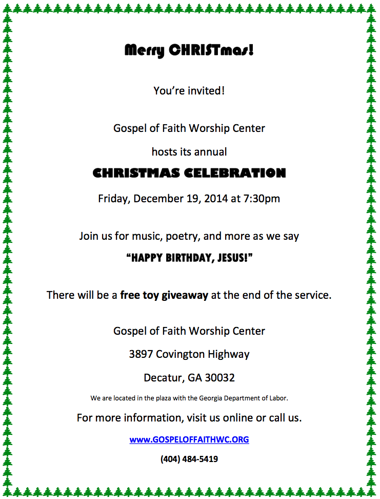 2020 Annual Christmas Toy Giveaway Covinton Ga Gospel of Faith Worship Center Hosts Christmas Celebration
