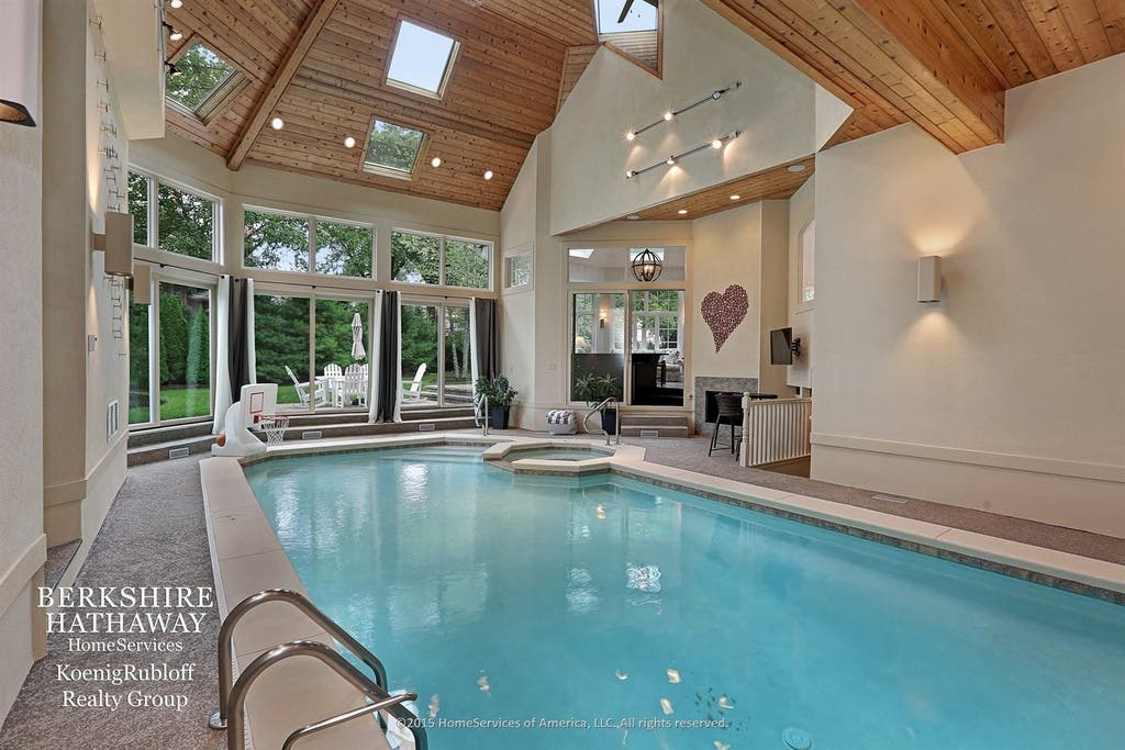 Wow House! Two-Story Library, Indoor Pool, 7 Fireplaces ...