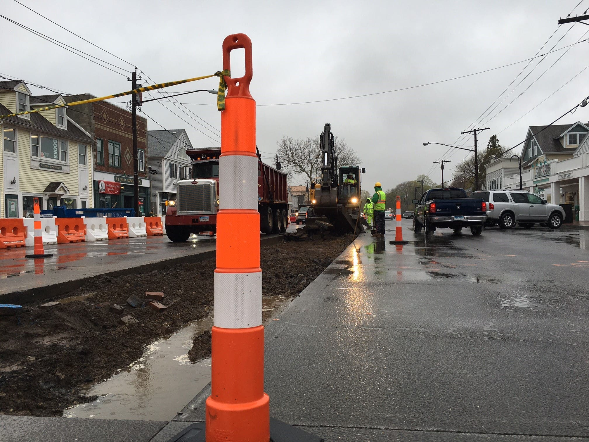 Madison Center Median Removal Today: Travel Lanes and