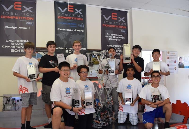 Local Students Won the Highest Award in VEX Robotics World