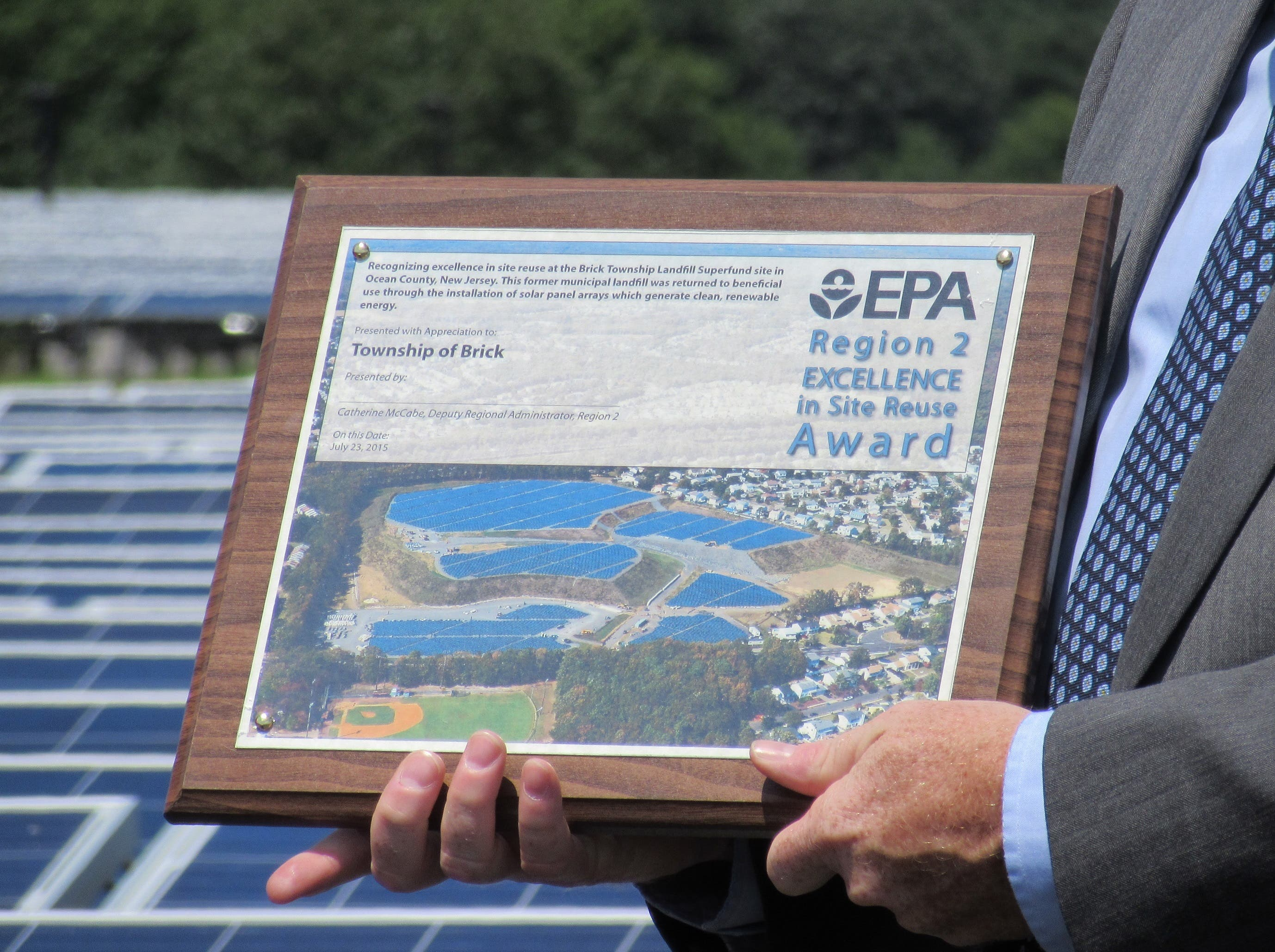 A Shining Example:' EPA Lauds Brick For Landfill-Turned-Solar Field