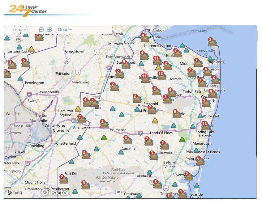 Thousands In Ocean, Monmouth Without Power In Wake Of Strong Storm