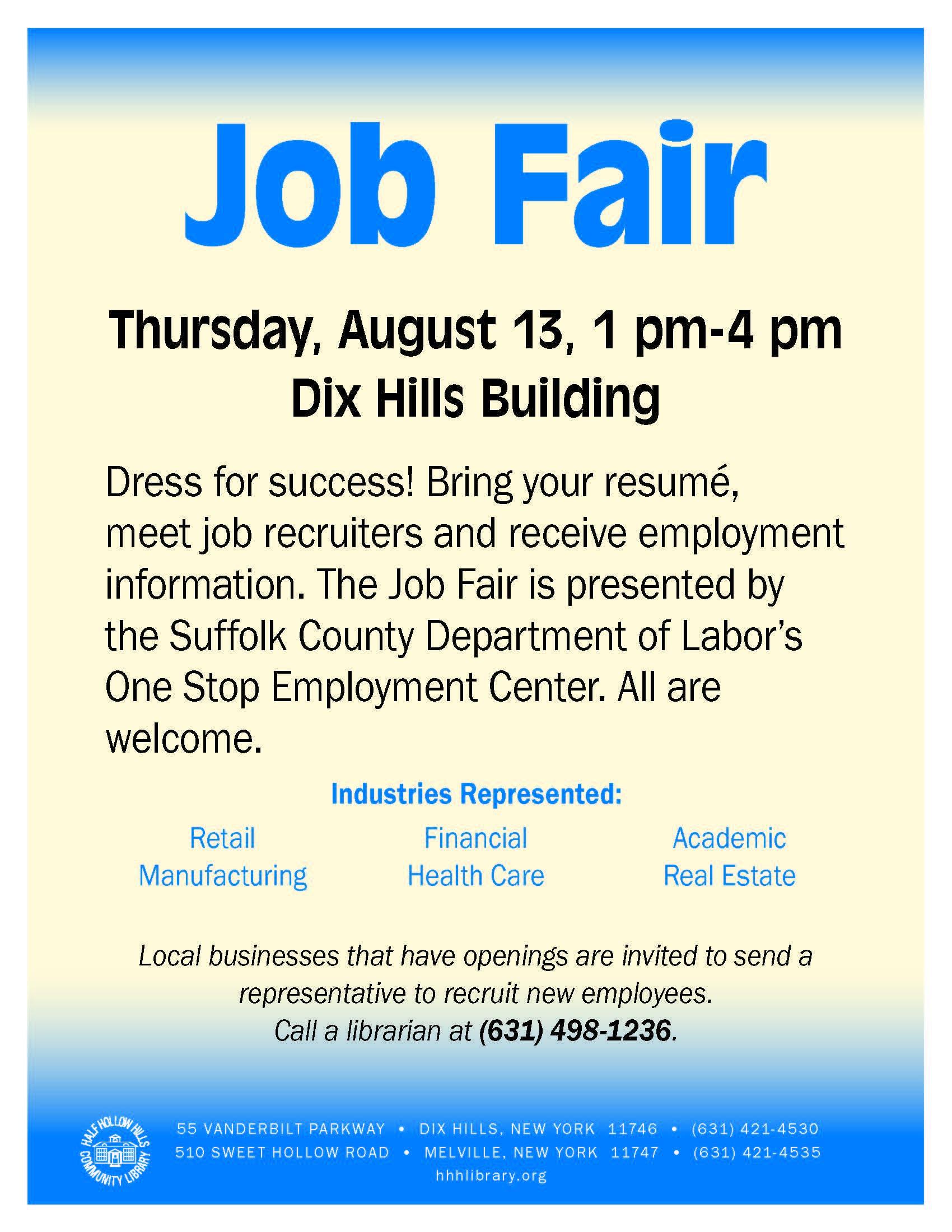 Seek Employment at Suffolk County Job Fair on Thursday