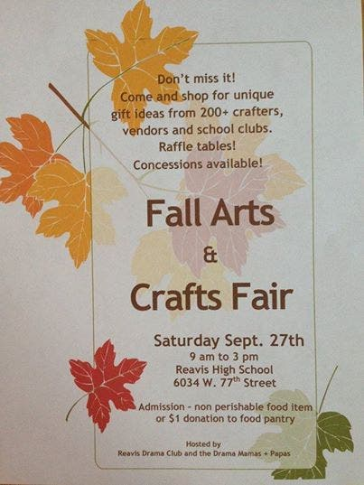 Reavis H S  Fall Arts and Crafts Fair | Evergreen Park, IL Patch