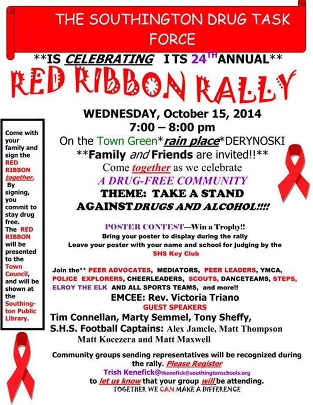 Southington to Celebrate Red Ribbon Rally | Southington, CT