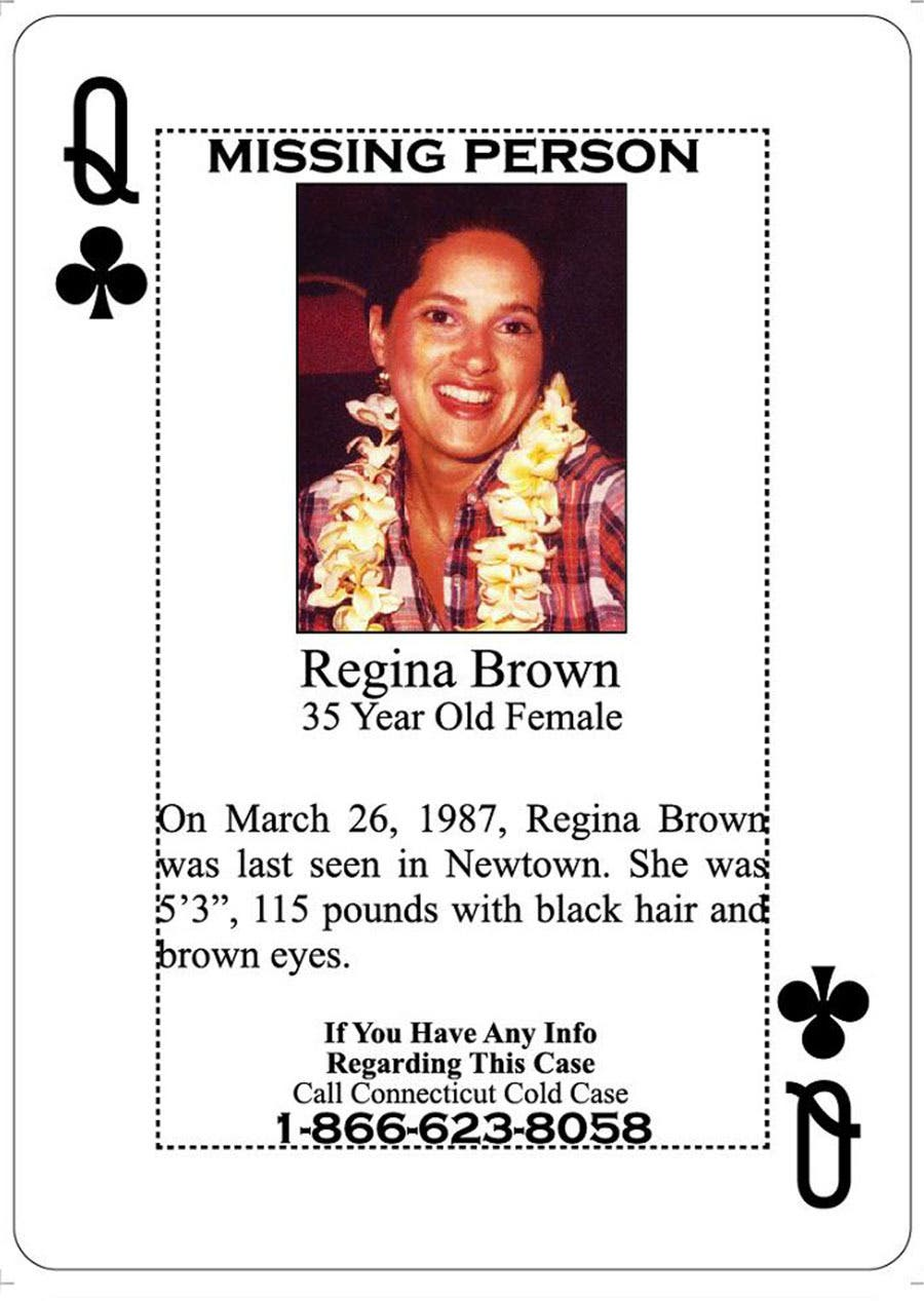 Newtown Missing Person Cold Case Featured in Inmate Playing Card