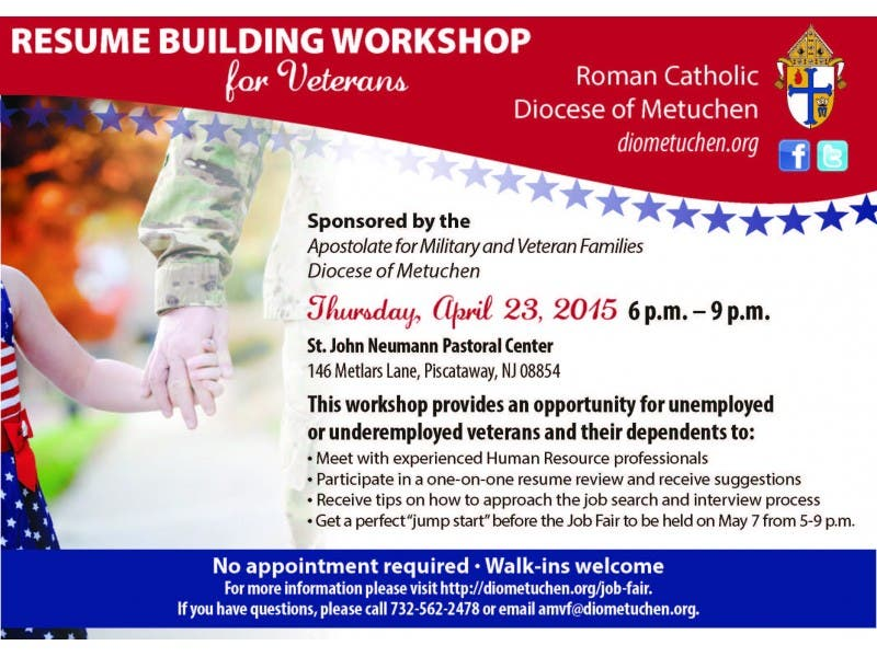 Veterans Invited To Job Fair And Resume Workshop Hosted By Diocese