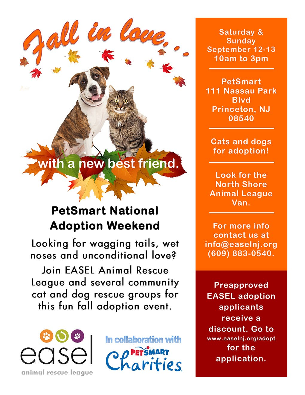 Huge Adoption Event at Princeton PetSmart Sept 12-13
