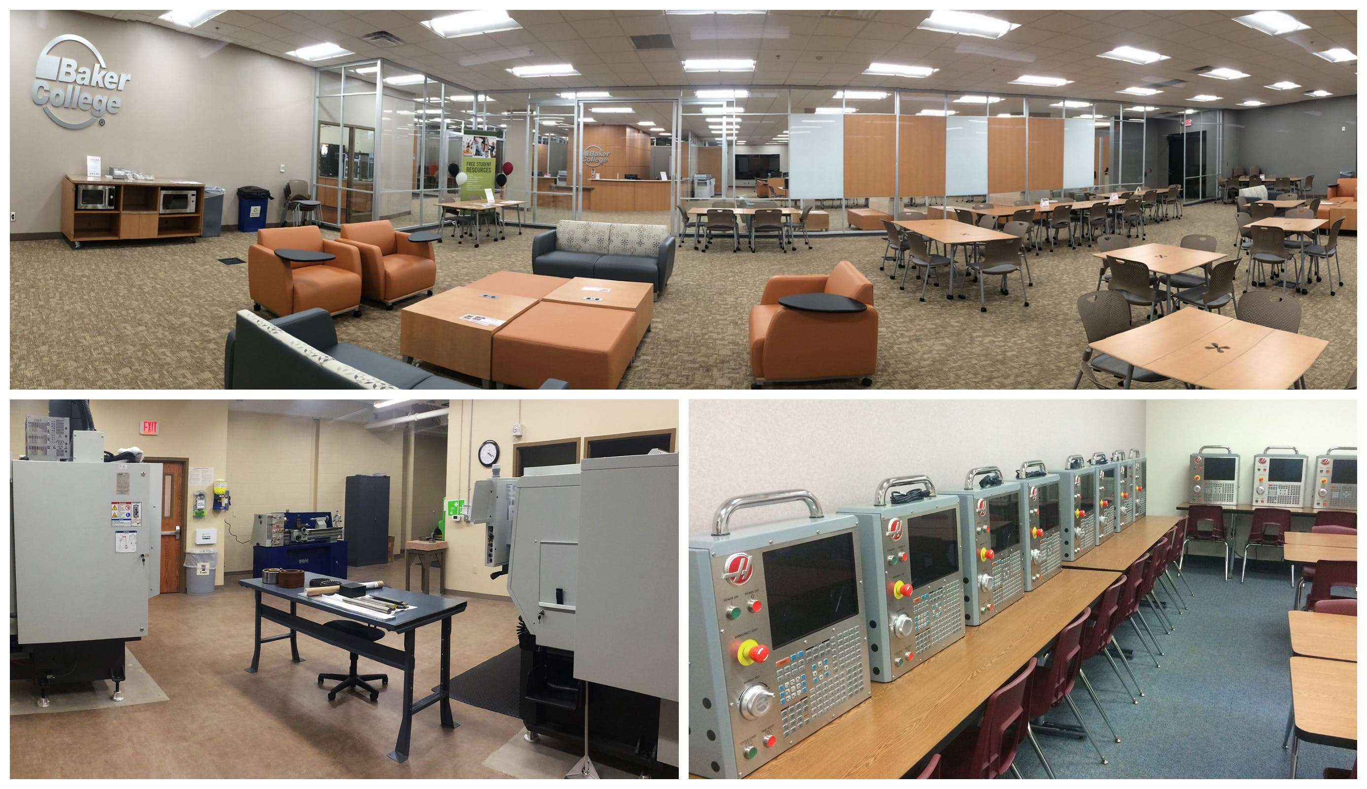 Baker College opens new academic resource center, manufacturing lab