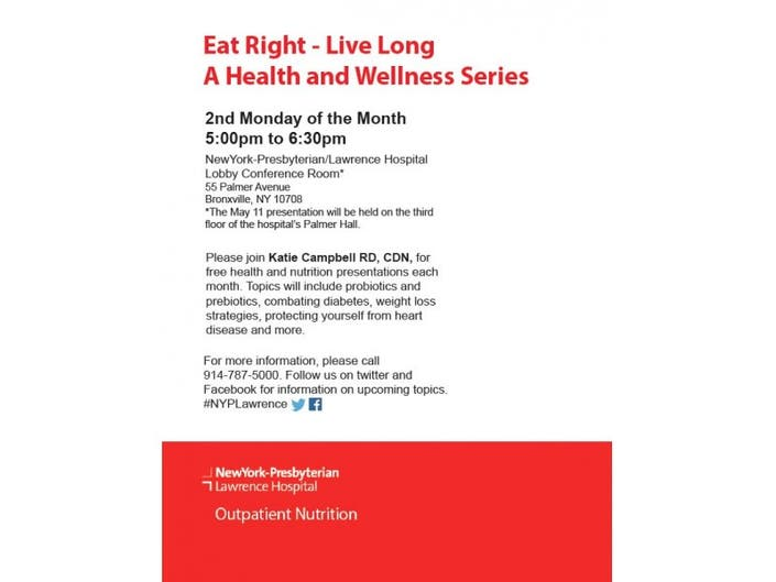 Eat Right, Live Long Presentation: Nutrition and Cancer | Bronxville