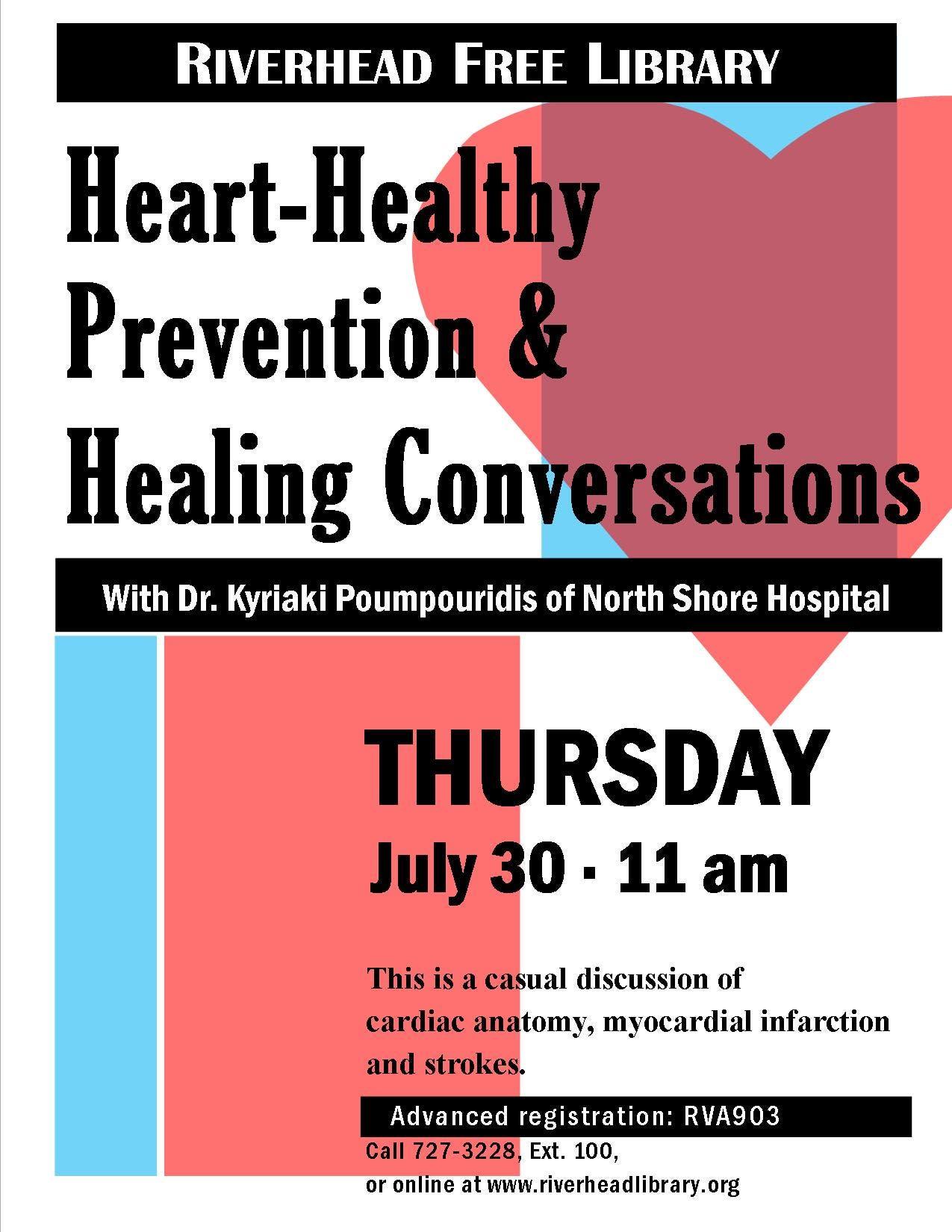 Heart Healthy Prevention & Healing Conversations | Riverhead