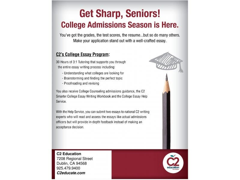 C Educationcollege Essay Program  Dublin Ca Patch C Educationcollege Essay Program