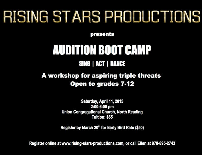 Parent Workshop In Wakefield March 11th >> Audition Boot Camp Wakefield Ma Patch