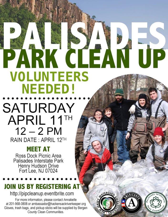 Volunteer Opportunity: NJ Palisades Interstate Park CLEAN UP