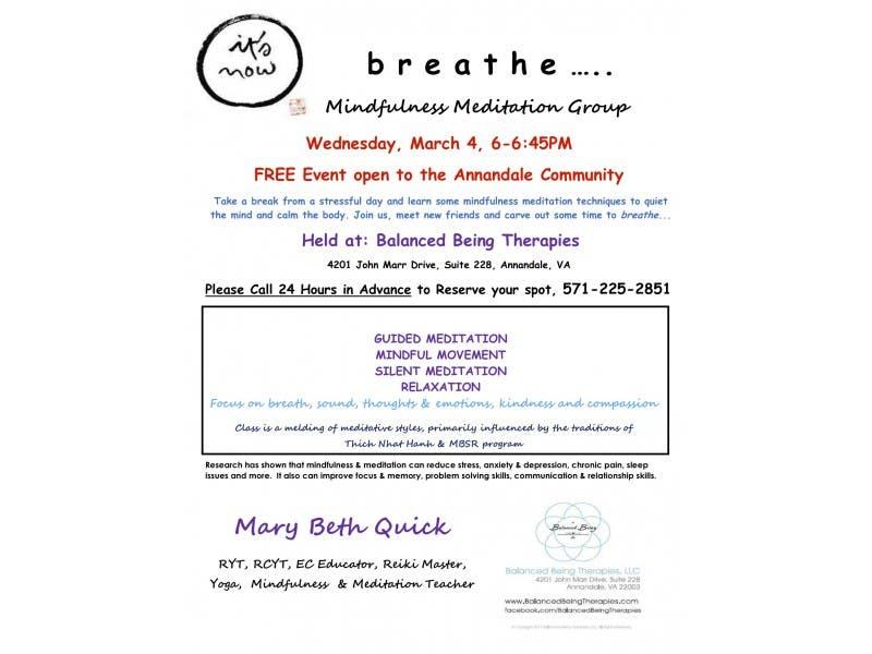 Mindfulness Meditation Class Annandale Va Patch