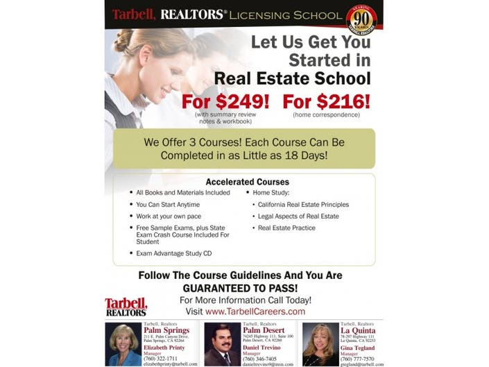 Let Us Get You Started In Real Estate School | Palm Desert, CA Patch