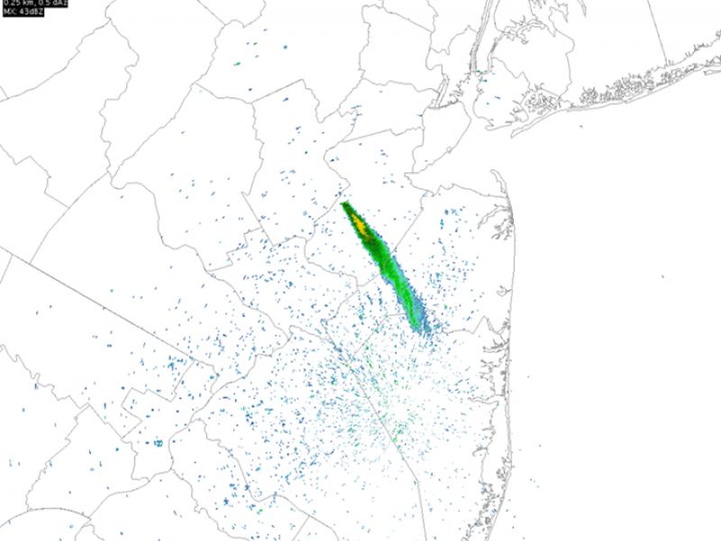 Look Huge Smoke Plume Visible On Nws Radar East Brunswick Nj Patch