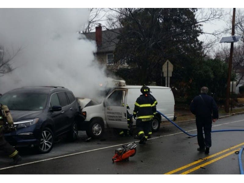 Montclair Car Crash Shorts Battery Causes Fire Montclair Nj Patch