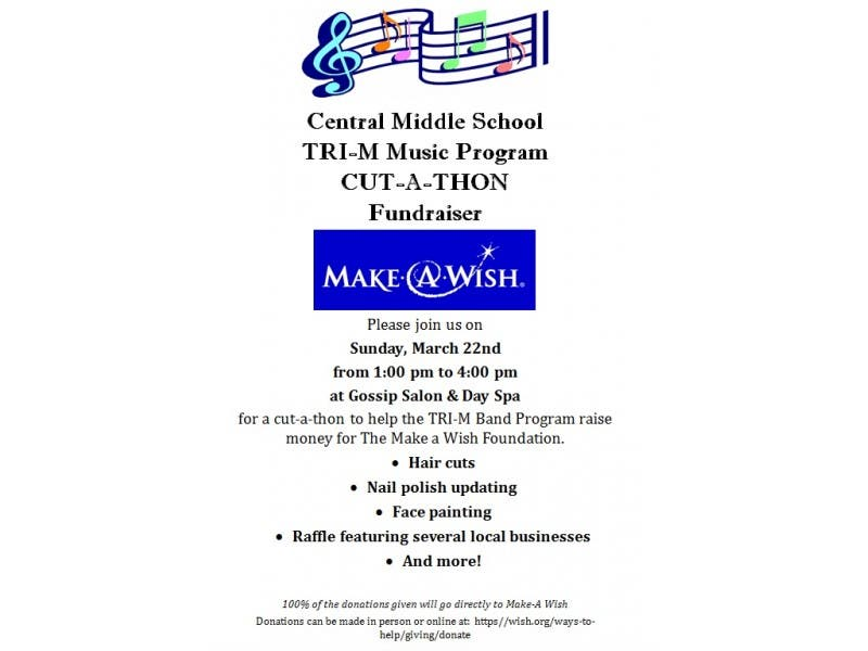 Gossip's Cut-A-Thon fundraiser for Make-A-Wish Foundation