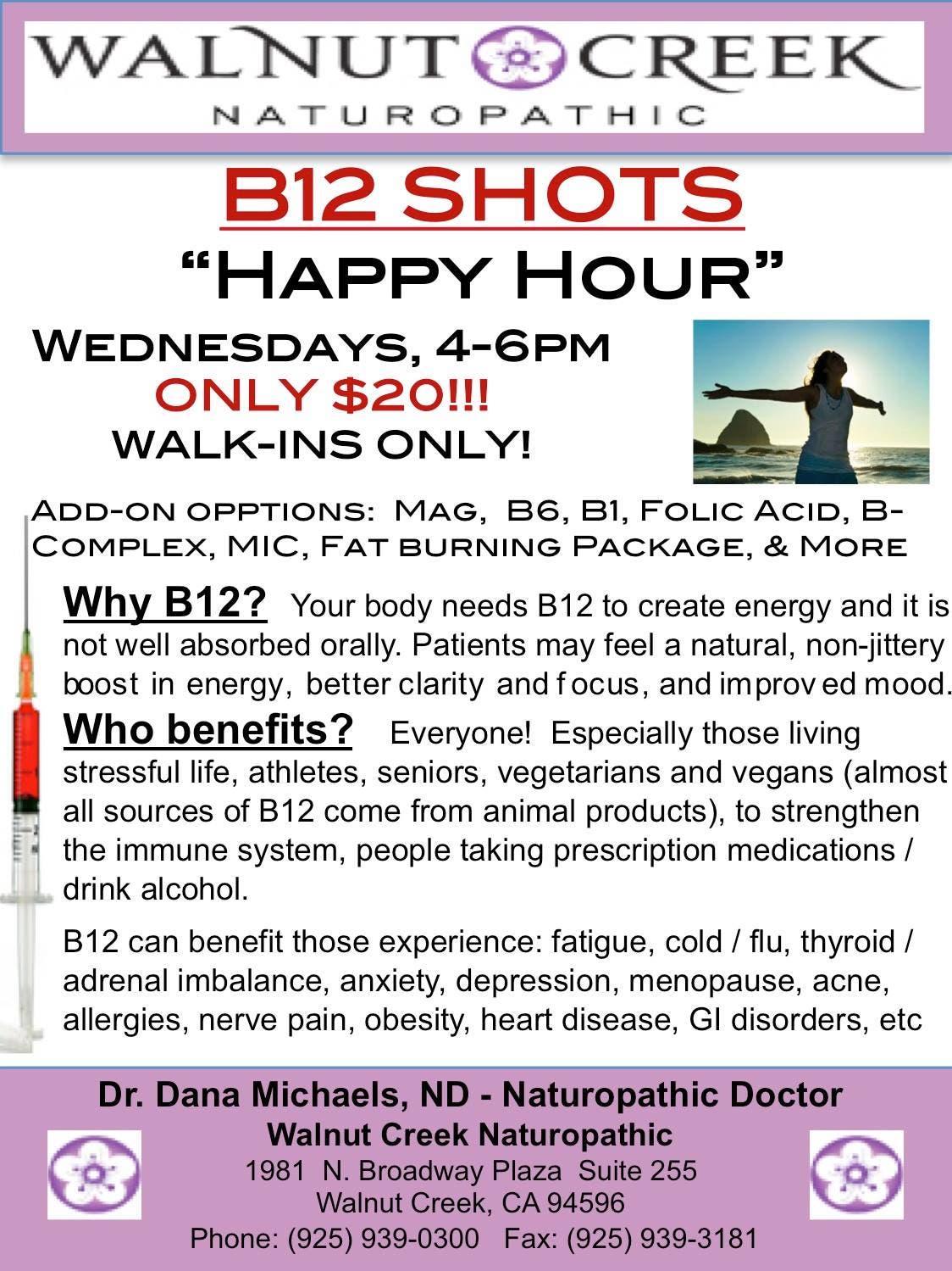 B12 Shots Happy Hour Walk In Clinic Walnut Creek Ca Patch