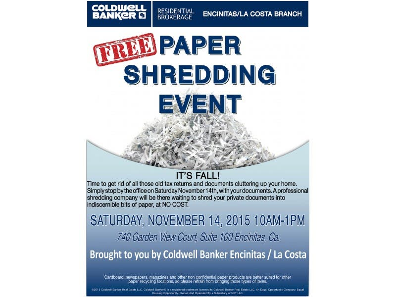 free paper shredding event | encinitas, ca patch