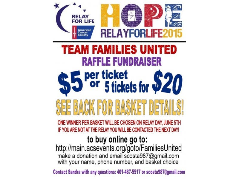 Raffle Fundraiser For The American Cancer Soceity S Relay For Life